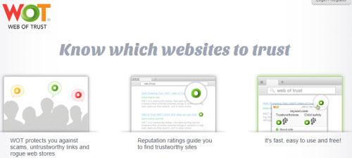 نرم افزار امنیتی WOT مخصوص انواع مرورگرهای اینترنتی - به کدام وبسایت اعتماد کنیم؟